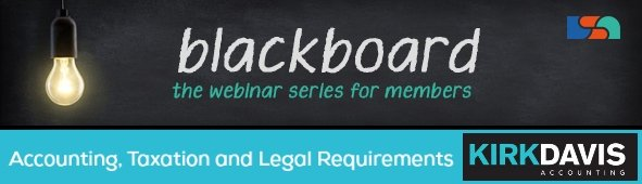 BlackBoard Webinar Series - accounting, taxation and legal requirements