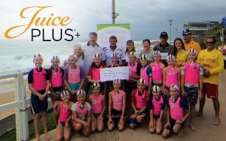 Juice Plus support Mereweather Surf Life Saving Club