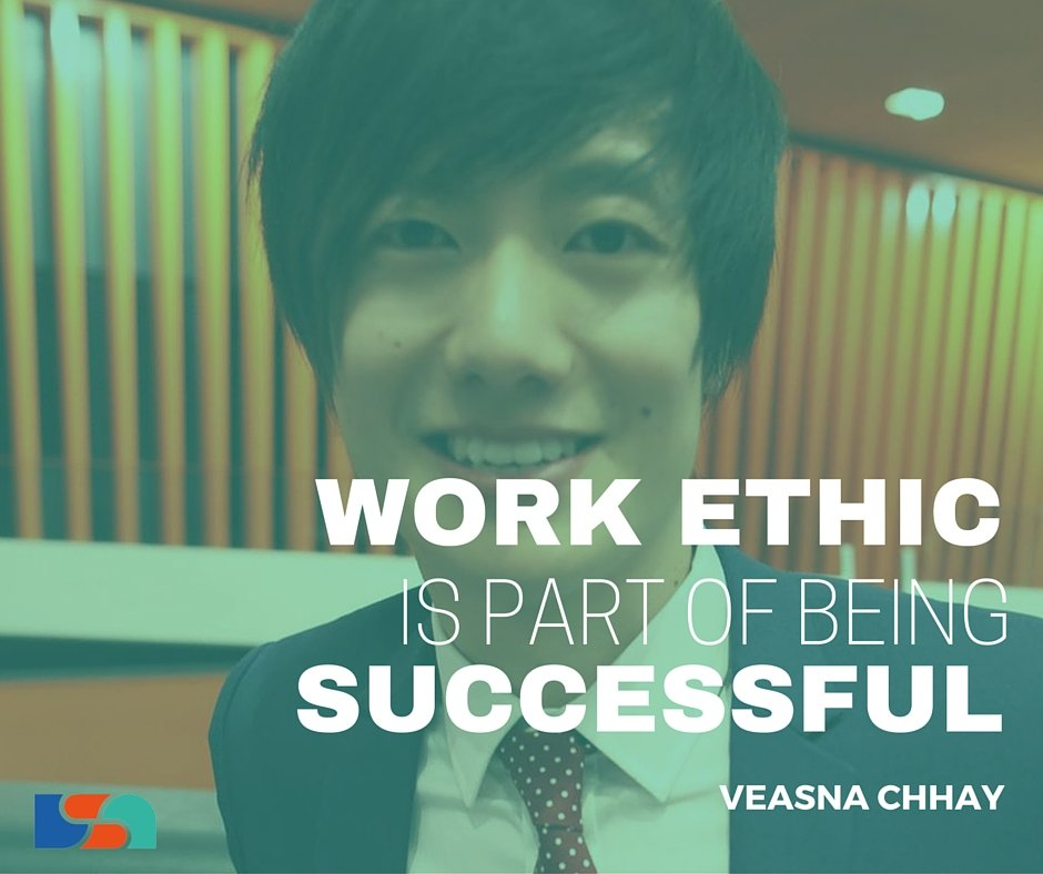Work ethic is part of being successful