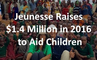 Jeunesse Raises $1.4 Million in 2016 to Aid Children