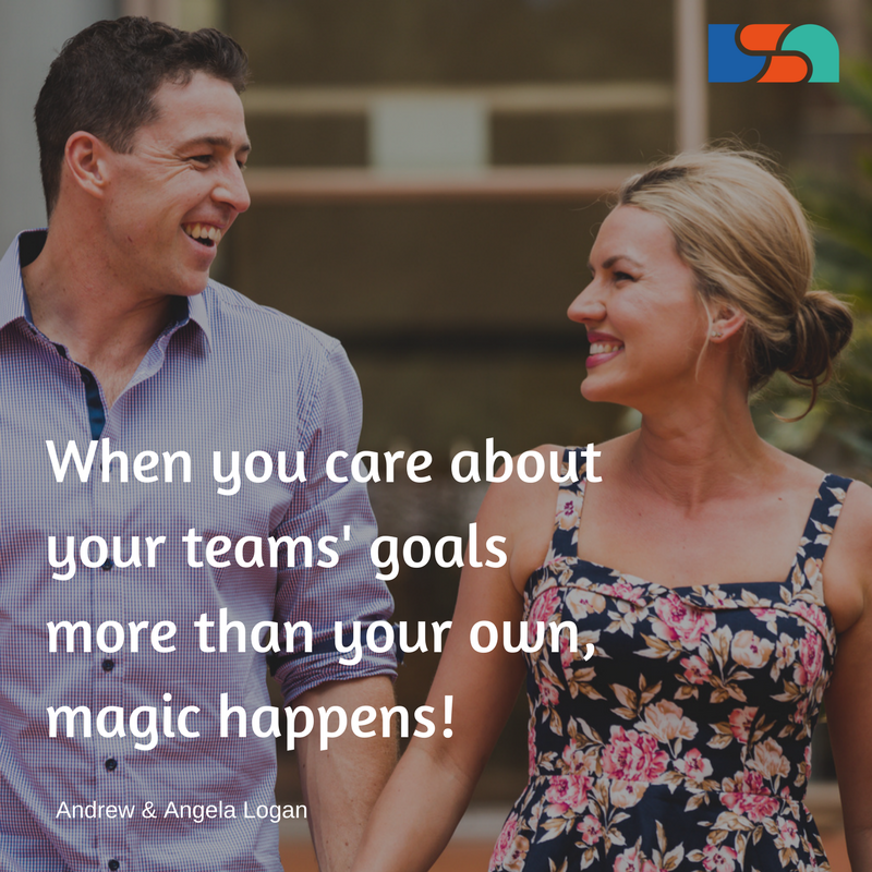 When you care about your teams' goals more than your own, magic happens!